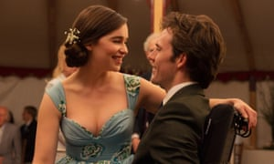 A chaste ideal … Emilia Clarke, left, and Sam Claflin in Me Before You.