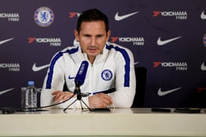 Frank Lampard during his press conference.