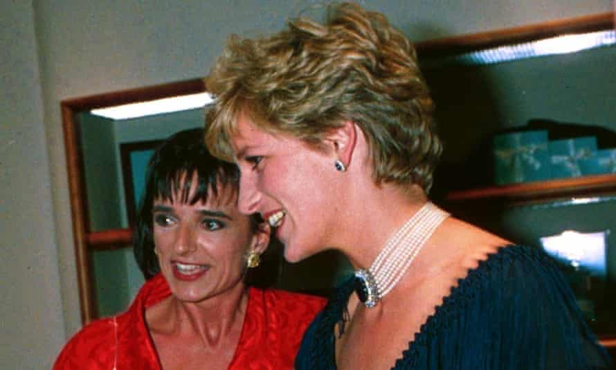 Diana, Princess of Wales, with Rosa Monckton in 1993.