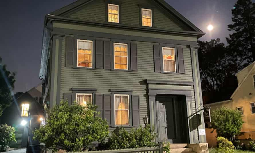 The Lizzie Borden house in Fall River, Massachusetts, where Lizzie murdered her parents in 1892.