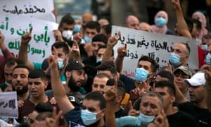 معترضین در فلسطین