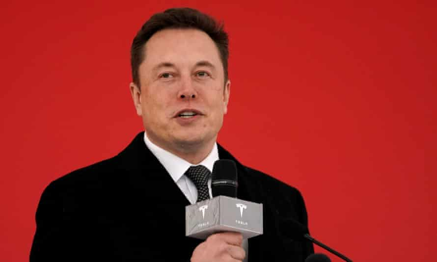 The Tesla CEO Elon Musk at the Tesla Shanghai Gigafactory groundbreaking ceremony in Shanghai, China, 7 January 2019.