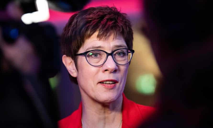 Annegret Kramp-Karrenbauer, leader of Germany's ruling Christian Democratic Union.