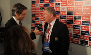 Gabriel Clarke interviews Sir Alex Ferguson ahead of the 2011 FA Cup semi-final between Manchester City and Manchester United at Wembley
