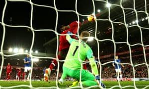 Divock Origi scores the winner for Liverpool after Jordan Pickford's mistake.