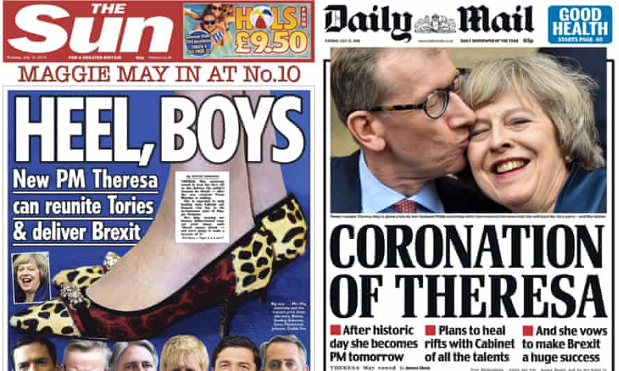 The Sun and Daily Mail greet the new prime minister.