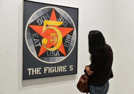 The Figure Five at the 2013 Whitney retrospective Robert Indiana: Beyond Love.