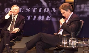 David Dimbleby with guest Tony Blair in 2000.