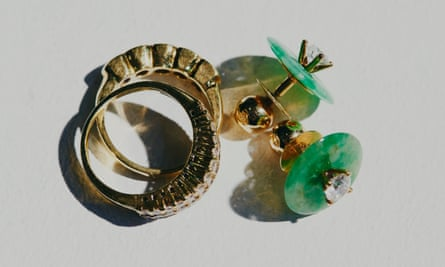 Earrings and rings that accompanied Lan Vo on the long journey from Ho Chi Minh City to Sydney.