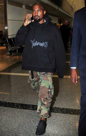Kanye West at LAX airport, LA, 2015.