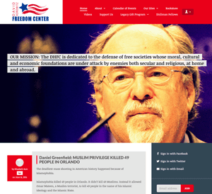 The website of the David Horowitz Freedom Center
