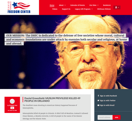 The website of the David Horowitz Freedom Center