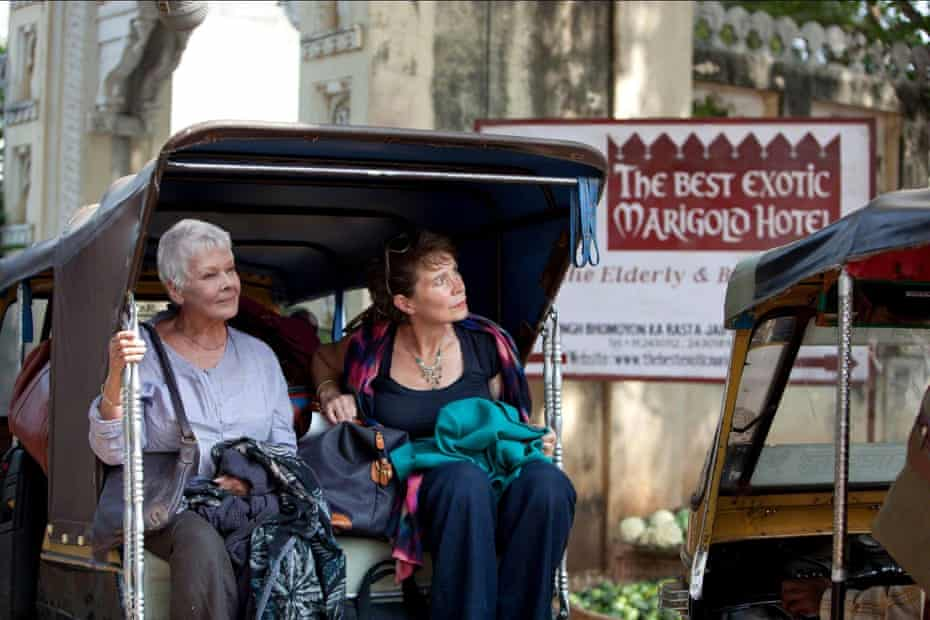 Globetrotter … Imrie and Judi Dench in 2012 hit The Best Exotic Marigold Hotel.