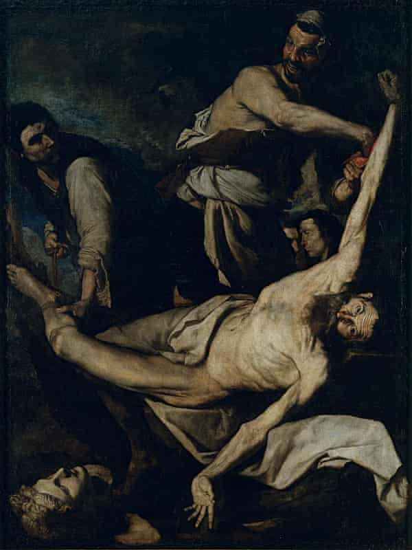 Skilled skinner … the 1644 painting of Saint Bartholomew being flayed.