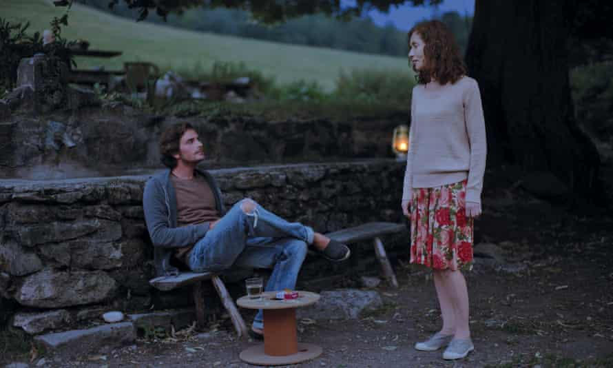 'Endlessly expressive': Isabelle Huppert as Nathalie, with Roman Kolinka as her protege, Fabien, in Things to Come.