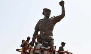 Target of the CIA, in American Spy … bronze statue of Burkina Faso's former president, Thomas Sankara, in Ouagadougou.