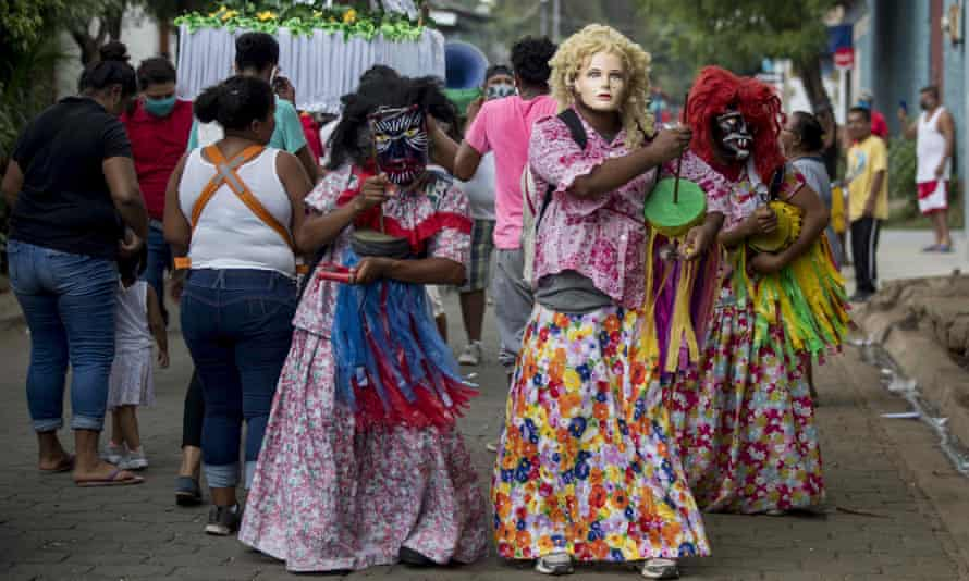 People take part in the feast day of of San Pascual Baylon in Chinandega, Nicaragua, on Sunday.