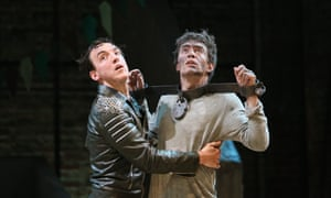 'We are one another's wife' … Jamie Wilkes and James Corrigan as Arcite and Palamon in Two Noble Kinsmen.