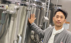 Akinori Yamazaki, who set up Derailleur Beer Works. 'I don't think they'd be able to find work anywhere else,' he says of his staff.