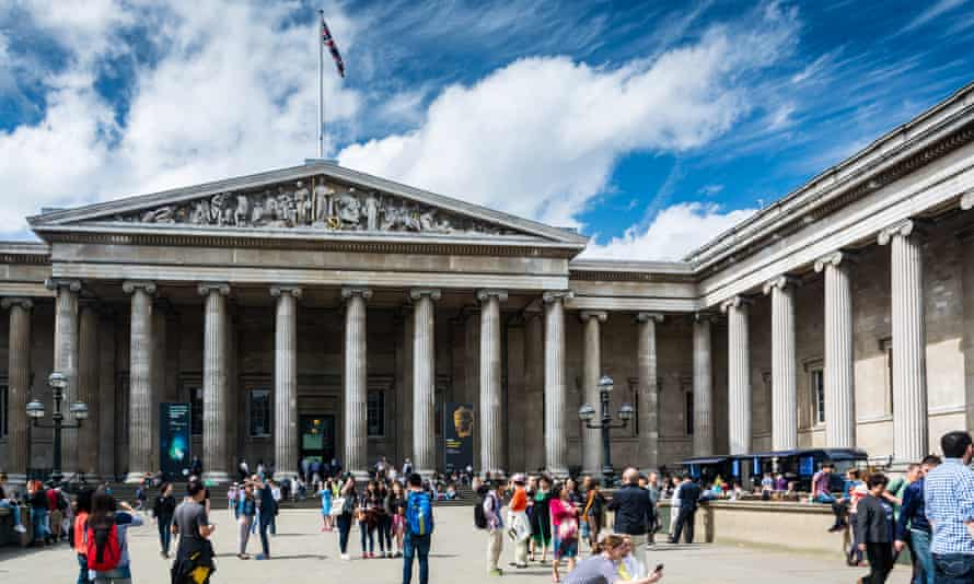 Visitors outside the British Museum inLondon.