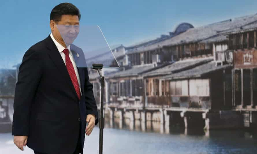 China's president Xi Jinping at the opening ceremony of the world internet conference in Wuzhen.