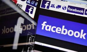 Facebook on computer screens