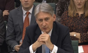 Philip Hammond giving evidence to the Treasury select committee
