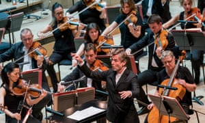 Esa-Pekka Salonen conducts the Philharmonia Orchestra, at the Royal Festival Hall.