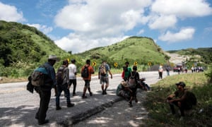 Migrants from poor Central American countries move towards the United States in hopes of a better life or to escape violence, in Oaxaca State, Mexico.