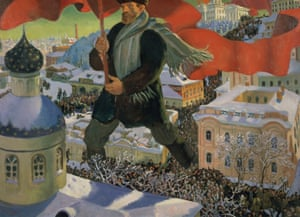 The Bolshevik, 1920 by Boris Mikailovich Kustodiev at the Royal Academy.
