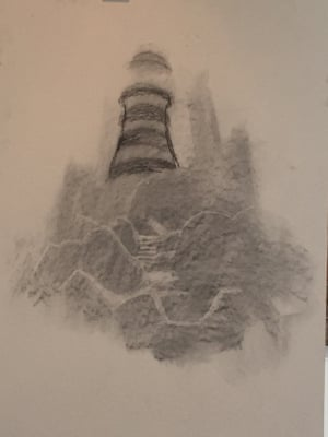Castle turns into lighthouse