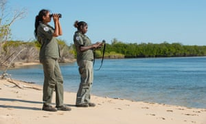 More than a third of Indigenous ranger positions are held by women such as these Dhimurru rangers.