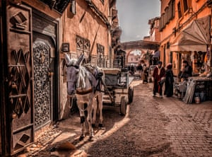 Mick Ryan, shortlisted: Portfolio. The medina in Marrakech, Morocco. In a side street leading from Djemaa el-Fna to the Kasbah district.
