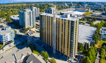 The 18-storey timber Brock Commons tower in Vancouver was built cheaper, faster and with less environmental impact than a comparable steel and concrete structure.