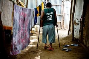 Mohamed in the refugee camp