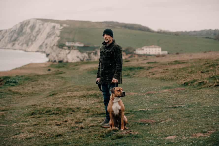 Daniel Payne, one of the 'Freshwater five' convicted of drug-smuggling in 2011, pictured near Freshwater Bay on the Isle of Wight.