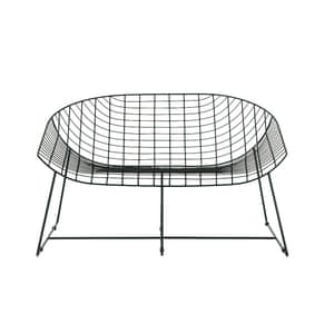 Leopold black wire two‑seater garden bench, £195, habitat.co.uk