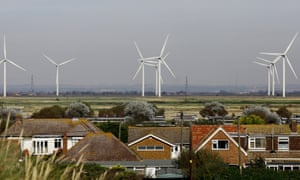Cheyne Court Wind Farm on Romney Marsh, Kent, partly funded by the Green Investment Bank.