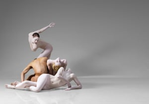 Joan Wadopian, Jessica Harris, Hunter Carter and Brooke Broussard/ Shen Wei Dance Arts, 'Re-Triptych', 2009 Photo by Lois Greenfield