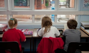 Three primary school children