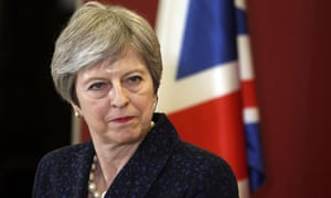 Theresa May in front of union jack