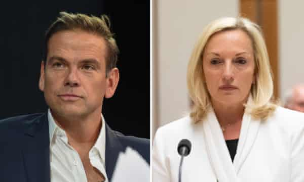 Lachlan Murdoch and Christine Holgate