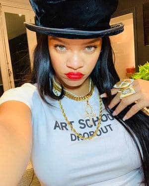 Rihanna wears Art School in an Instagram post.