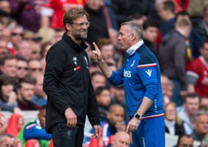 Paul Lambert gets his point across to Jürgen Klopp.
