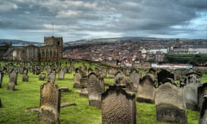 St Mary's churchyard, Whitby, North Yorkshire, UK.