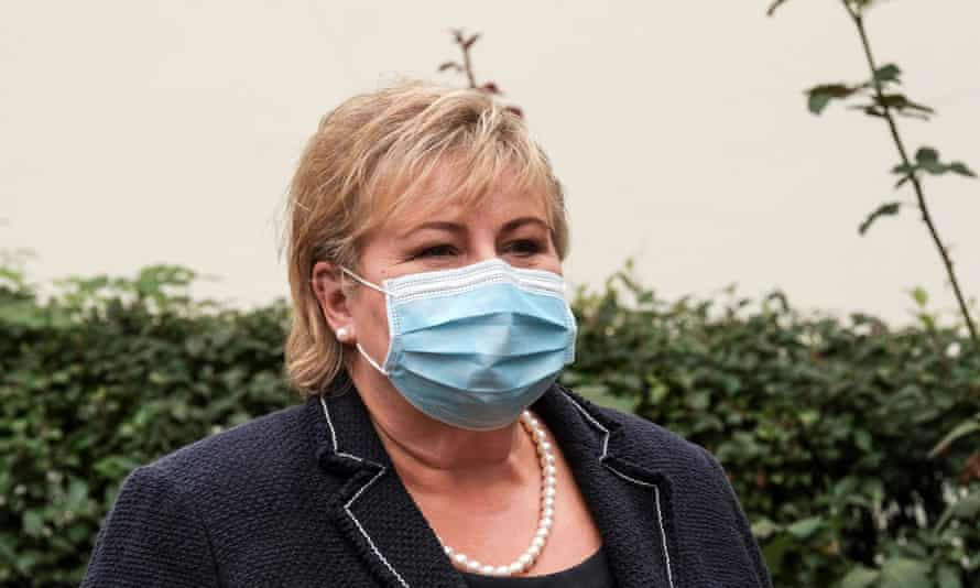 The prime minister of Norway, Erna Solberg, apologised last month for breaching Covid-19 rules.