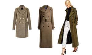 Short, £39.99, newlook.com. Belted, £845, joseph-fashion.com. Maxi (on model), £110, asos.com