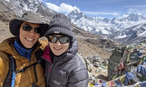 Londoners Dave Wong and Julie McElhinney, who are stranded in Nepal.