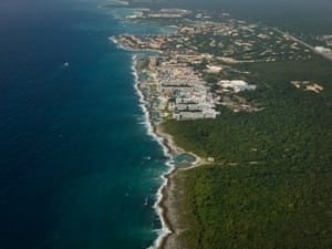 Hotel development on the Caribbean coast started about 35 years ago and now much of the coastline is broken by new buildings