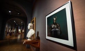 Mark Mattock's photographic portrait of Stormzy exhibited at the National Portrait Gallery.